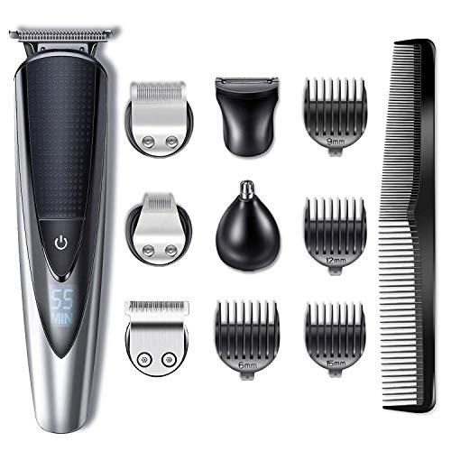 HATTEKER Regolabarba Uomo tagliacapelli Professionale Barba e Capelli Impermeabile Precisione Regolabarba
