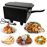 Hot Berg Small Electric Tandoor with Pizza Cutter,Magic Cloth,Aluminium Trey,Shock Proof Rubber Legs,Recipe Book Absolutely Free