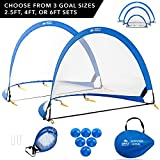 Day 1 Sports Pop Up Soccer Goal Set of 2 4'
