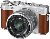 Fujifilm X-A5 Fotocamera Digitale Mirrorless in Kit con Obiettivo Zoom, XC15-45 mm, Marrone