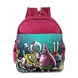 Kids Spongebob Squarepants School Backpack Cute Baby Boys Girls School Bag Pink