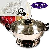 Bonus Package Sonya Shabu Shabu Hot Pot Electric Mongolian Hot Pot...