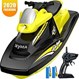 SYMA RC Boat for Kids, Q10 Remote Control Boats for Pools and Lakes with 2.4GHz 10km/h Speedboat,...
