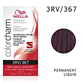 WELLA Color Charm Permanent Liquid Hair Color, 3RV Black Cherry, 1.4 Fl Oz