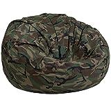 Flash Furniture Oversized Camouflage Kids Bean Bag Chair
