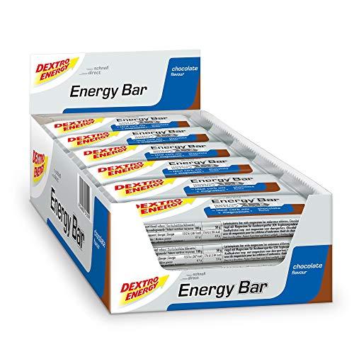 Dextro Energy Riegel Schoko / 24x50g Energieriegel & Eiweißriegel in einem / Mit Kohlenhydraten & Magnesium / Powerriegel für die Fahrradtasche