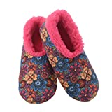 Snoozies Womens Furry Nice Slippers Slippers for Women   Womens House Slippers   Fuzzy Slippers with Soft Soles   Multi Floral   Medium
