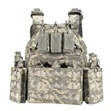 YAKEDA Tactical Vest Outdoor Ultra-Light Breathable Combat Training Vest Adjustable for Adults 600D...