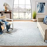 Safavieh Abstract Collection ABT342N Handmade Premium Wool Area Rug, 9' x 12', Blue / Ivory