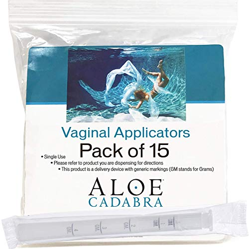 Extra Disposable Vaginal Applicators (15 Pack) Individually Wrapped, Fits Threaded Vaginal Creams and Contraceptive Gels