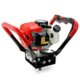 XtremepowerUS V-Type 55CC 2 Stroke Gas Post Hole Digger One Man Auger EPA Machine Plant Soil Digging Fence (55cc Engine Head)