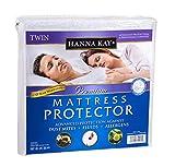 Hanna Kay Queen Size Premium Hypoallergenic Waterproof Mattress Protector - Vinyl Free