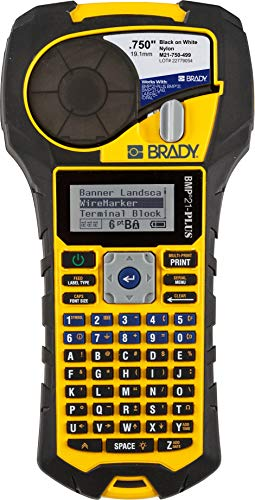 Brady BMP21-PLUS Handheld Label Printer with Rubber Bumpers, Multi-Line...