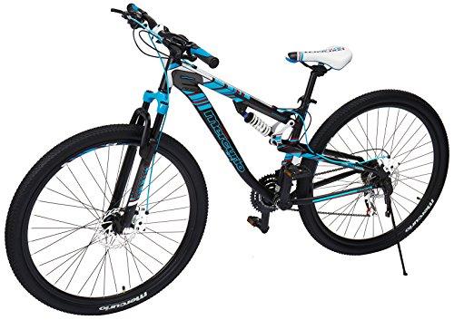 Mercurio Bicicleta Expert Aluminio R.29 21Vel. Negro Mate/Azul 17.5