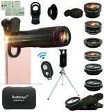 Tech :  Kit d'objectif pour appareil photo de téléphone portable, téléobjectif zoom universel 22x 14 en 1, grand angle 0,63 + macro 15X + téléobjectif 198 ° + téléobjectif 2X + kaléidoscope + CPL / lumière des étoiles / masque pour les yeux / trépied / obturateur à distance, pour smartphone Iphone (noir)  , avis