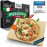 Pizza Divertimento [DAS ORIGINAL - Pizzastein für Backofen und Gasgrill – Vergleich.org ausgezeichnet - Pizza Stein aus Cordierit bis 900 °C – Für knusprigen Boden & saftigen Belag