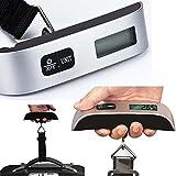Pèse-bagages numérique 50 kg, balance portative pour valise, grand écran LED, balance...
