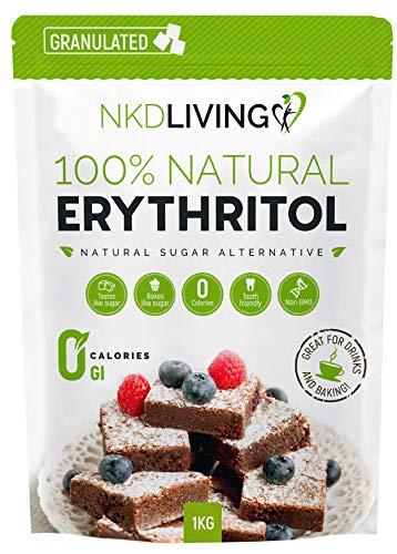 100% érythritol naturel, 1 kg   Granulé substitut au sucre avec ZÉRO calorie