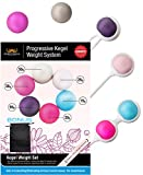 Ben Wa Progressive Kegel Weight Exercise System: 6 Weights for Woman, Beginner to Advance-Helps Strengthen Pelvic Floor Muscles and Resolves Incontinence & Bladder Control