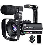 Caméscope, caméra vidéo 2.7K 36MP UHD IR Vision Nocturne Caméscope...