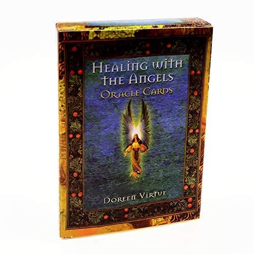 JOSN 44Pcs/Set Tarot Cards - Healing with The Angels Cards -...