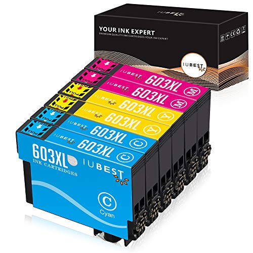 IUBEST 603XL Cartucce d'inchiostro Sostituzione per Epson 603 XL compatibili per Epson Expression Home XP-2100 XP-4100 XP-3100 XP-2105 XP-3105 XP-4105, Epson WorkForce WF-2830 WF-2850 WF-2810 WF-2835