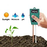 Hathdia Soil PH Meter,Soil Moisture Meter, 3-in-1 Soil Test Kit for PH/Moisture/Light Digital Soil Tester for Indoor/Outdoor Plant Care