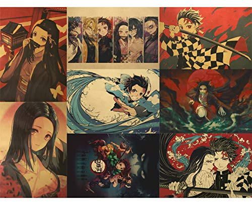 RINWUNS Poster, One Piece Wall Art Print, Monkey D. Luffy Anime Theme Pictures Decor for Bedroom,...
