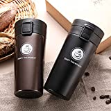 Wosta Stainless Steel 500ml Double Wall Vacuum Flask Car Thermos Mugs with Handle Coffee Tea Travel Thermal Bottle Tumbler Thermocup Vacuum Flasks & Thermos