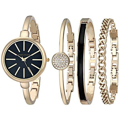 Anne Klein Women's Gold-Tone Watch and Premium Crystal...