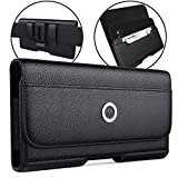 Meilib iPhone 7 Plus Belt Clip Case, Premium Leather Holster Pouch with Belt Clip and Loop for Apple iPhone 7 Plus Phone Case w/ID Card Holder (Fits Phone with Other Cover on) Black