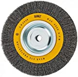 DEWALT Wire Wheel for Bench Grinder, Crimped Wire, 8-Inch (DW4906)