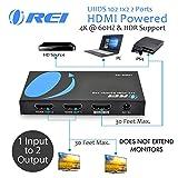 OREI UltraHD 4K @ 60 Hz 1x2 HDMI Splitter 1 in 2 Out (2 Port) HDMI 2.0, HDCP 2.2, 18 Gbps, HDR, 4K HDMI Splitter YUV 4:4:4 (UHDS-102)