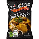 Chick N' Skin Fried Chicken Skins - Chinese Salt & Pepper Flavor (8Pack) | Keto Friendly Low Carb High Protein Snacks, Light & Crispy, Made with Organic Chicken 2-oz. per Bag