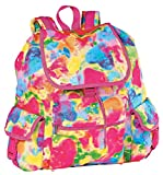iscream 'Tie Dye Hearts' Deluxe Knapsack Style 16.5' x 13' Backpack for School and Travel