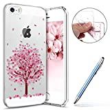 Robinsoni Coque iPhone SE,iPhone 5S Étui en Silicone,Coque Transparente motif...