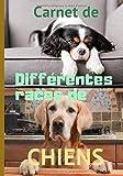 Carnet de différentes races de chiens: Carnet de notes à compléter, (7 x 10 pouces), 153 pages, cadeau pour tous ceux et celles qui aiment ou qui s`intéressent aux chiens.