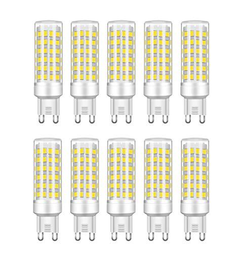 RANBOO G9 LED 9W equivalenti a 75W, Bianco Freddo 6000K 750LM, Non-Dimmerabile, AC220-240V, 360 Angolo a fascio, 10-Pack