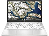 HP Chromebook 14a-na0002TU 14-inch Laptop (Celeron N4020/4GB/64GB SSD/Chrome OS/Integrated Graphics), Ceremic White