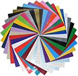 Qbc Craft 12x12 Permanent Adhesive Vinyl Sheets (36 Pack) Including...