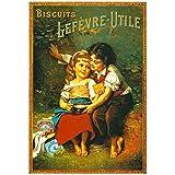 Editions Clouet 50452 - Affiche publicitaire 50x70 cm Biscuits LU - Les Amoureux