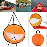 Dyna-Living 42' Durable Downwind Wind Sail Sup Paddle Board Instant Popup for Kayak Boat Sailboat Canoe Foldable Style (Orange)