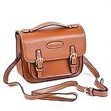 Sunmns Retro Vintage Style PU Leather Case Bag with Shoulder Strap for Fujifilm Instax Mini 9/8/ 70/26/ 90 Film Camera, Square SQ6, Polaroid Zip/ Z2300/ Snap, Brown