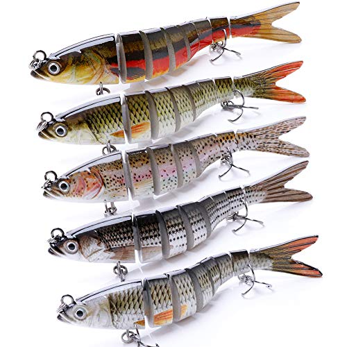 VTAVTA Fish Lures Fishing Lure Freshwater Topwater Bass Lure 5.51inch Fishing Jointed Swimbaits Gear...