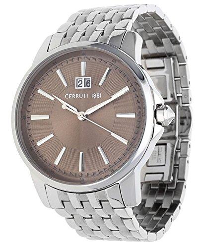 Cerruti Herren Armbanduhr Silber CRA072SN11MS