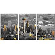 Size:16x24inchx3pcs.Waterproof canvas,professionally printed with fade resistant,premium inks Includes everything needed to hang your artwork,hook mounted on the wooden frame,come with nails and level,Ready to hang easily Black flannel on the back of...