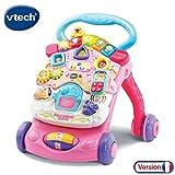 VTech - Super Trotteur Parlant 2 en 1 Rose – Trotteur interactif pour...
