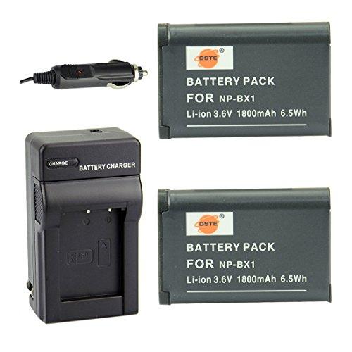 DSTE® アクセサリーキット NP-BX1 互換 カメラ バッテリー 2個+充電キット対応機種 Cyber-shot DSC-RX1 RX1R RX100 II III HX50V HX90V HX300 WX300 HDR-GWP88V GW66V CX240 AS15