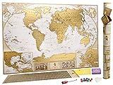 Grande Carte du Monde à Gratter Édition de Luxe – Planisphère à...