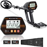 Metal Detector, Adjustable Metal Finder (24'-45')for Adults and Kids with Larger Back-lit LCD...